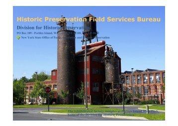 Presentation by NY SHPO staff - Landmark Society | of Western New ...