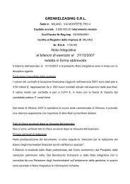 GRENKELEASING S.R.L. Nota Integrativa al bilancio di ... - Assilea