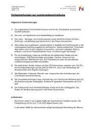 Vorbemerkungen zur Leistungsbeschreibung - Kreis Nordfriesland