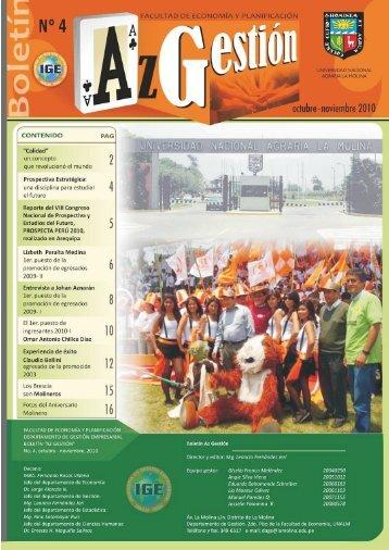 Boletín No .4 Octubre 2010 - Universidad Nacional Agraria La Molina