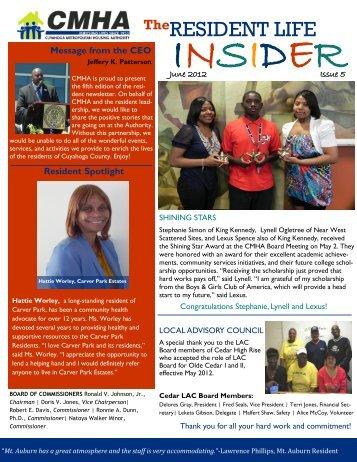 Resident Newsletter June 2012
