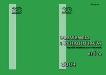 Prewencja i rehabilitacja nr 1/2004 (3) okładka