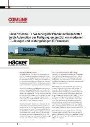 Häcker Küchen – Erweiterung der ... - Comline AG