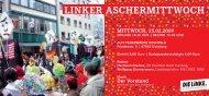 LINKER ASCHERMITTWOCH - DIE LINKE. Kreisverband Borken
