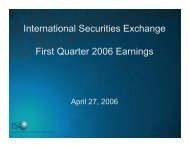 International Securities Exchange First Quarter 2006 ... - Ise.com