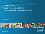 Ecobank Group Results Presentation for the 12 Months Ended 31 ...