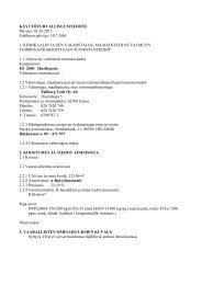 10.7.2001 1. KEMIKAALIN JA SEN VALMISTAJAN ... - HL Group