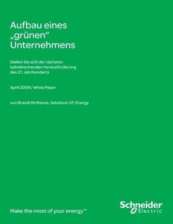 """Aufbau eines """"grünen"""" Unternehmens - Schneider Electric"""