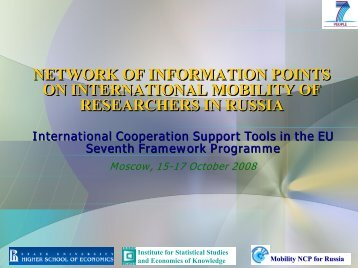 National Network of Regional Information Centres on mobility of ...