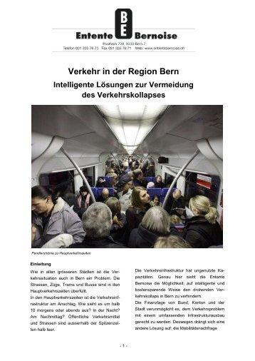 Verkehr in der Region Bern - Entente bernoise