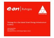 Strategy for a Gas based Smart Energy Infrastructure in Africa