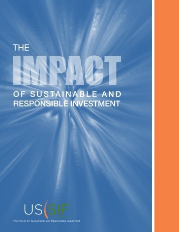 The Impact of Sustainable and Responsible Investment