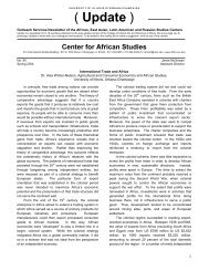 International Trade and Africa 2004 - Center for African Studies ...