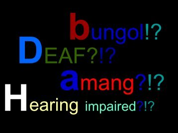 Deaf Awareness - Philippine Culture