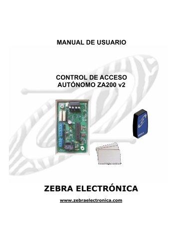 MANUAL CONTROLADOR ZA200_v2.pdf - Zebra Electronica