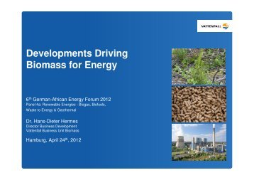 Developments driving Biomass from Energy