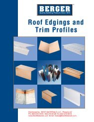 Trim Profiles Roof Edgings and - Best Materials