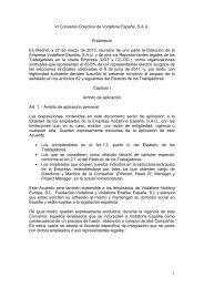 1 VI Convenio Colectivo de Vodafone España, S.A.U. ... - TCM-UGT