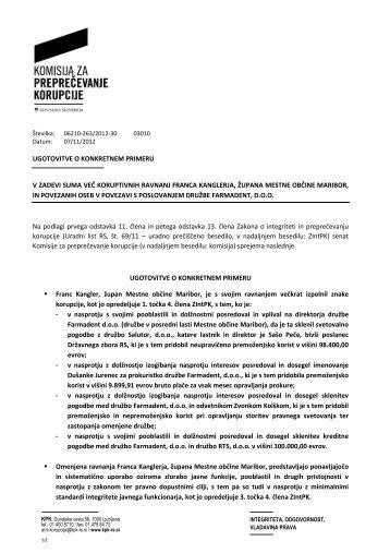 ugotovitve o konkretnem primeru v zadevi suma ... - 24UR: Slovenija