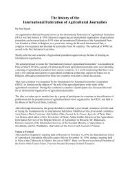 IFAJ History - International Federation of Agricultural Journalists