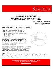MARKET REPORT WEDNESDAY 09 MAY 2007 - Kivells