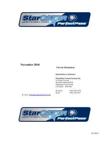 Star Gazer 3-Event Manual (PDF) - Perfectpass.com