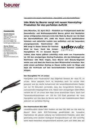 Udo Walz by Beurer sorgt mit neuen Haarstyling