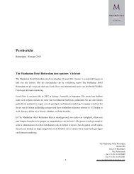 Persbericht - The Manhattan Hotel Rotterdam