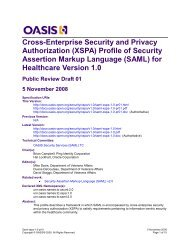 SAML - docs oasis open - Oasis