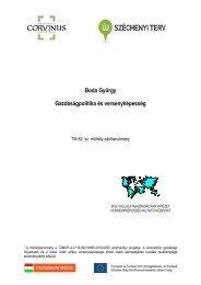 Boda György Gazdaságpolitika és versenyképesség - BCE ...