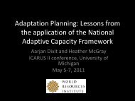 Panel Theme 4b. Developing More Climate-Adaptive ... - ICARUS
