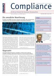 (PDF) | Ausgabe Dezember 2009/ Januar 2010 - Compliance