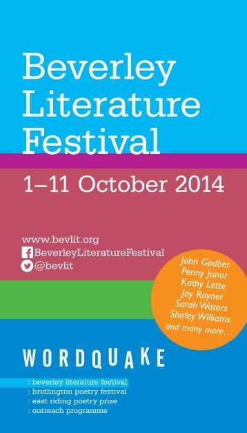 Beverley Literature Festival Brochure 2014(1)