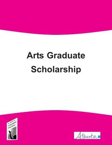 Arts Graduate Scholarships - ALIS