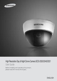 High Resolution Day & Night Dome Camera SCD-2020 ... - Samsung