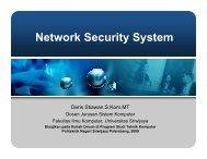 Network Security System - Sharing - Universitas Sriwijaya