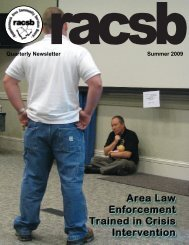 Summer 2009 - Rappahannock Area Community Services Board