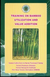 TRAINING ON BAMBOO - Forest Research Institute