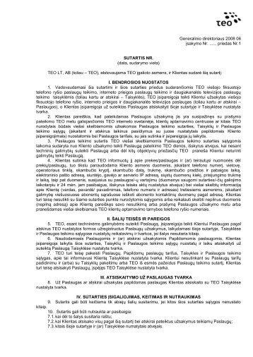 SUTARTIS NR - Internetas ZEBRA