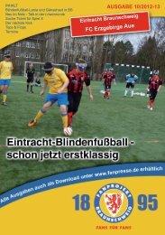 Heft 10: Erzgebirge Aue - FanPresse Braunschweig