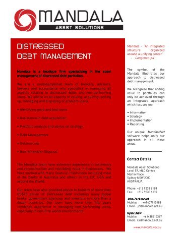 DISTRESSED DEBT MANAGEMENT - Mandala.net.au