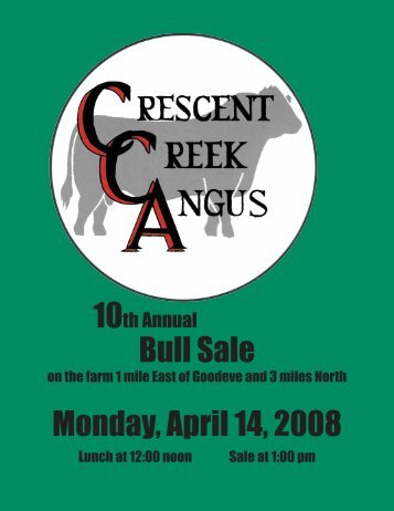 Bull Sale Monday, April 14, 2008 - SaskLivestock