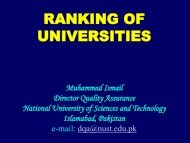 Global Rankings… - National University of Science and Technology