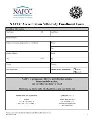 NAFCC Accreditation Self-Study Enrollment Form