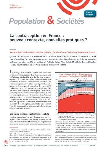 La contraception en France : nouveau contexte, nouvelles ... - Ined