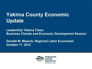 Yakima County Economic Update
