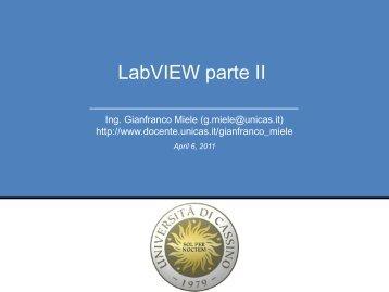 LabVIEW parte II - Docente.unicas.it - Università degli Studi di Cassino