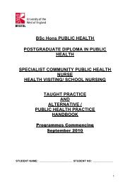 SCPHN TP and AP Document for 2010