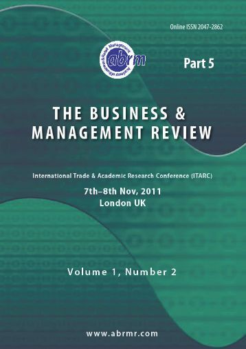 Conference Proceedings Part 5 - The Academy of Business and ...