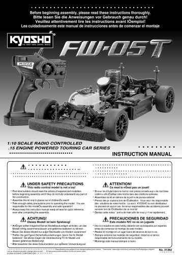 INSTRUCTION MANUAL - Kyosho